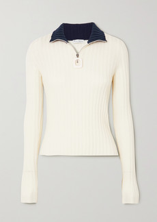JW Anderson Infinity Two-tone Ribbed Merino Wool Sweater