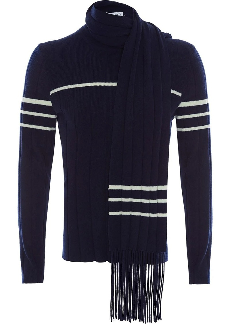 JW Anderson JUMPER WITH SCARF DETAIL