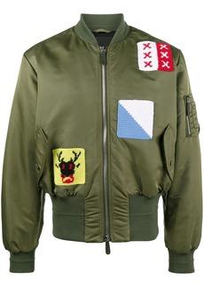 JW Anderson Appliqué stitch satin bomber jacket