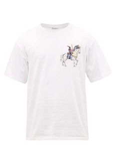 JW Anderson Camelot embroidered cotton-jersey T-shirt