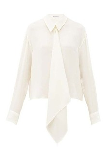 JW Anderson Draped front silk blouse