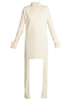 JW Anderson Extended side-panel crepe shirt
