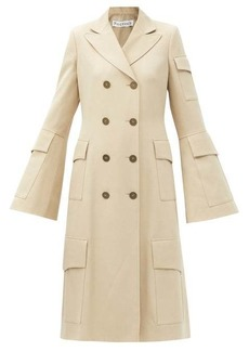 JW Anderson Flap-pocket double-breasted wool coat