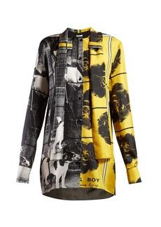JW Anderson X Gilbert & George-print silk blouse