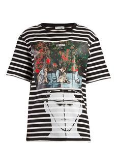 JW Anderson X Gilbert & George-print striped T-shirt