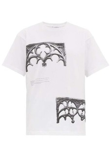 JW Anderson Gothic-print cotton T-shirt