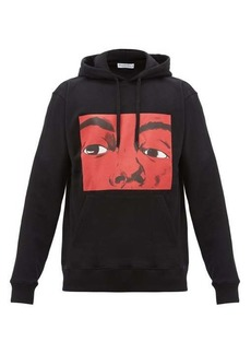 JW Anderson Graphic and text-print cotton hooded sweatshirt