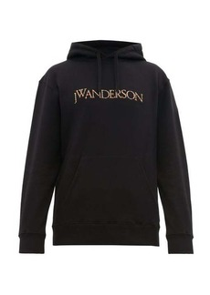 JW Anderson Logo-embroidered cotton hooded sweatshirt