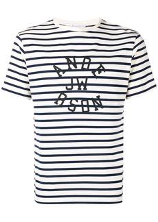 JW Anderson logo striped T-shirt