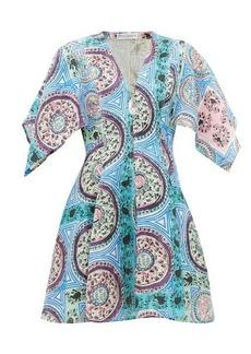 JW Anderson Mystic Paisley-print linen mini dress