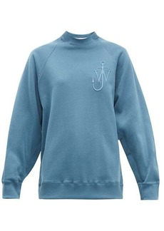 JW Anderson Oversized button-sleeve cotton-jersey sweatshirt