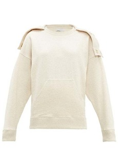 JW Anderson Oversized press-stud hood cotton sweatshirt