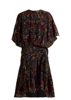 JW Anderson Paisley-print handkerchief-hem silk dress