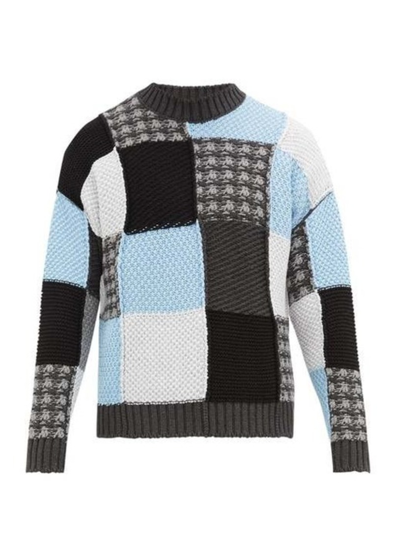 JW Anderson Patchworked cotton sweater