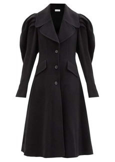 JW Anderson Puff-shoulder single-breasted wool coat
