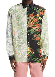 JW Anderson Relaxed Fit Tapestry Print Button-Up Shirt