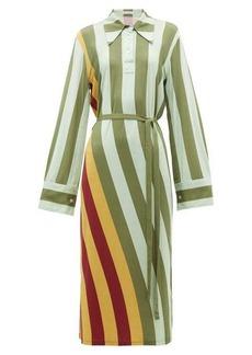 JW Anderson Striped polo-neck midi dress