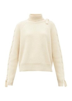 JW Anderson Threaded cable-knitted alpaca and yak-wool sweater