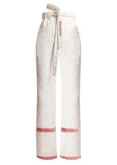 JW Anderson Wide-leg linen trousers