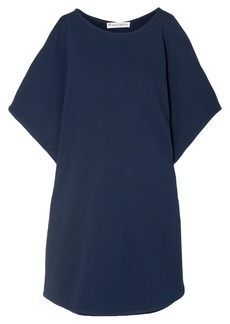 Jw Anderson Woman Draped Cotton-jersey Top Navy