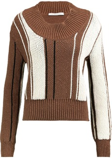 Jw Anderson Woman Stretch-cotton Sweater Brown