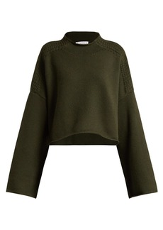 JW Anderson Wool and cashmere-blend cropped sweater