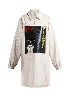 JW Anderson X Gilbert & George-print striped cotton shirt