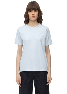 JW Anderson Jwa Logo Embroidered Cotton T-shirt