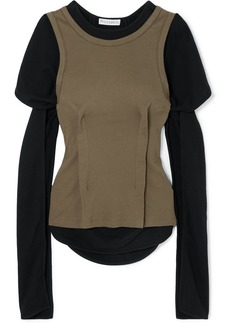 JW Anderson Layered Cotton-jersey Top