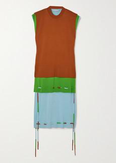 JW Anderson Layered Merino Wool Dress