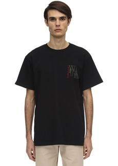 JW Anderson Logo Embroidery Cotton Jersey T-shirt