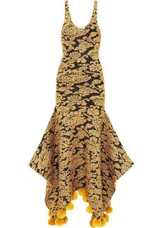 JW Anderson lurex jacquard pom-pom dress