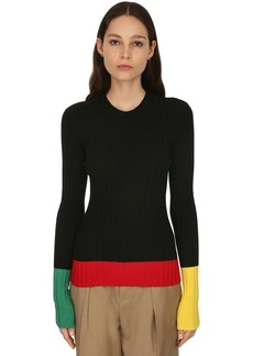 JW Anderson Merino Wool Rib Knit Sweater