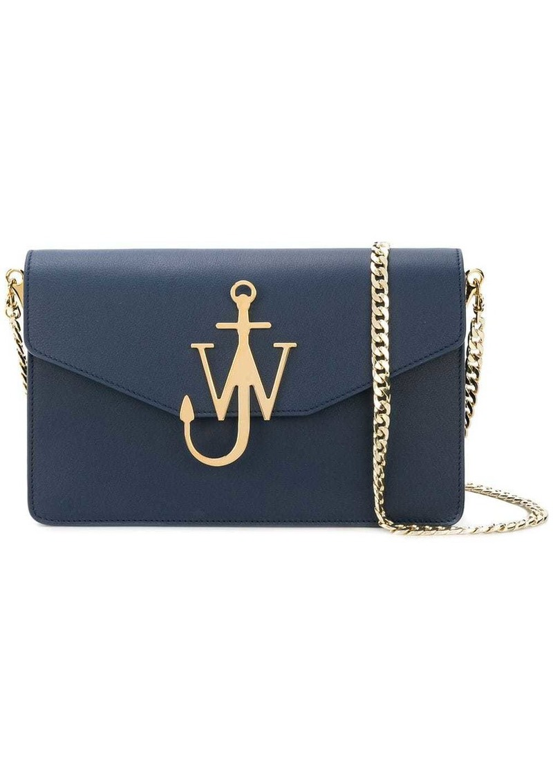JW Anderson Navy Logo Purse With Chain