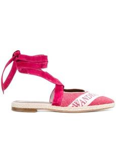 JW Anderson open-back logo ballerina sandals