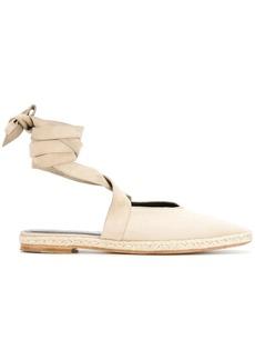 JW Anderson open flat ballerina shoes
