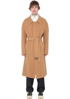JW Anderson Oversize Cashmere & Cotton Coat W/ Belt