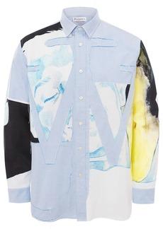 JW Anderson panelled Anchor appliqué shirt