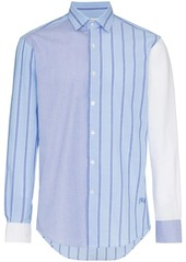 JW Anderson panelled stripe cotton long sleeve shirt