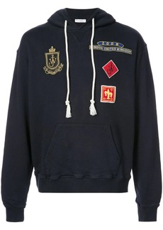 JW Anderson patch detail hooded sweatshirt
