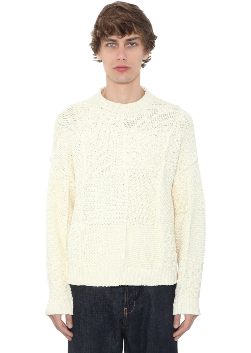 JW Anderson Patchwork Cotton Knit Sweater