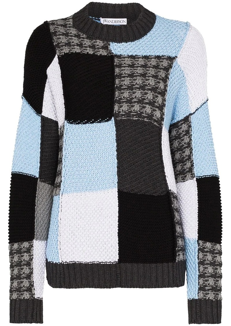 JW Anderson patchwork knitted jumper