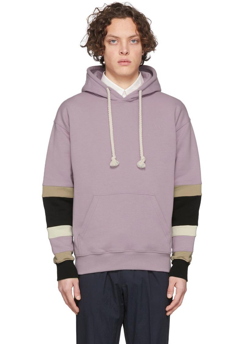JW Anderson Pink Colorblock Sleeves Logo Hoodie