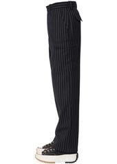 JW Anderson Pinstripe Virgin Wool Blend Pants