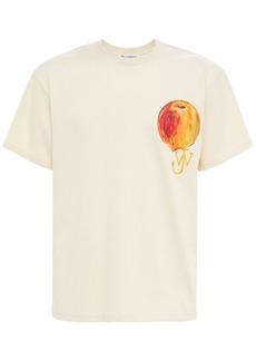 JW Anderson Printed Peach Logo Jersey T-shirt