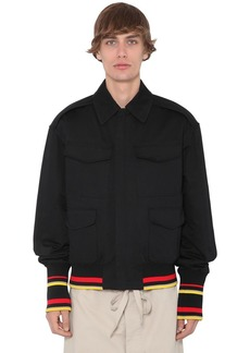 JW Anderson Quilted Cotton Canvas Bomber Jacket