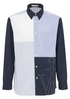 JW Anderson Relaxed Patchwork Cotton Poplin Shirt
