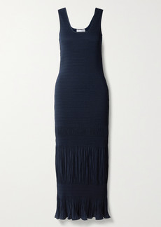JW Anderson Shirred Plisse-crepe Maxi Dress