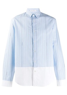 JW Anderson striped panelled shirt