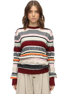 JW Anderson Striped Wool Knit Sweater